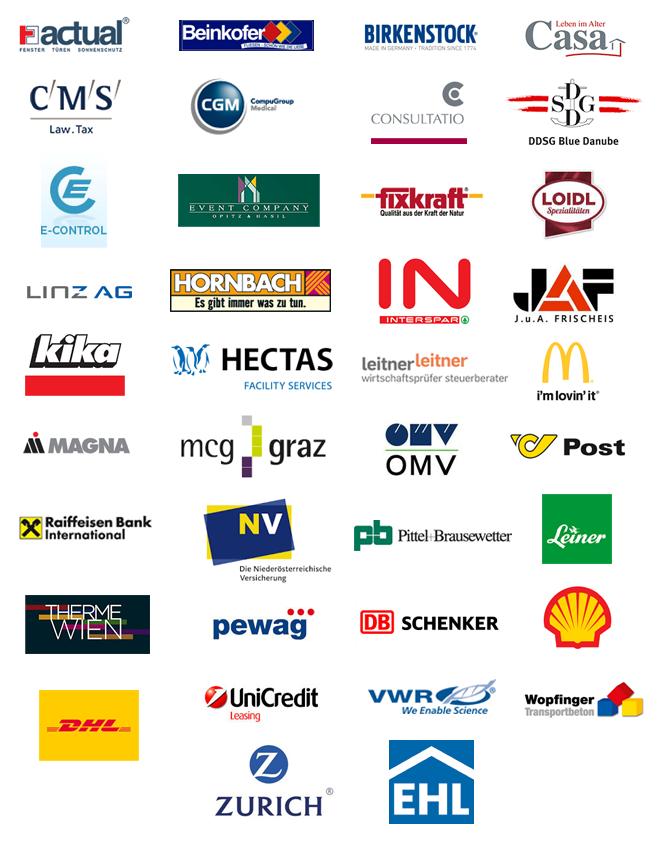 Firmenkunden Logos Firmenfeier mit DJ