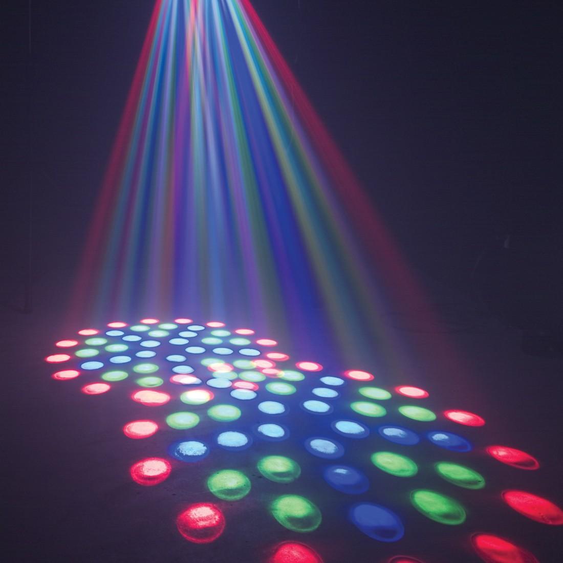 ADJ | Reflex LED DMX | Spiegelbewegungen und LED Farbwechsel