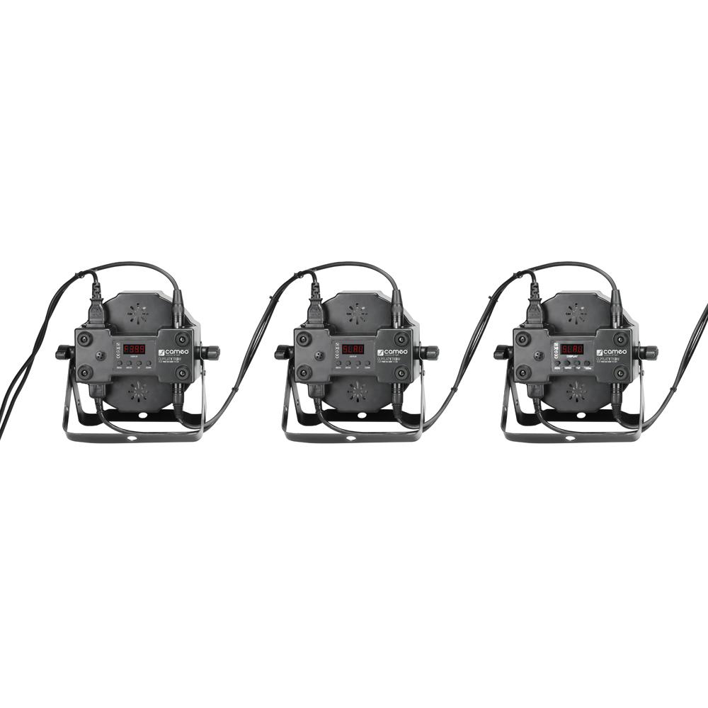 Cameo | Floorspot Paket 4 Stück PAR Can Tri 3W, 7x3W