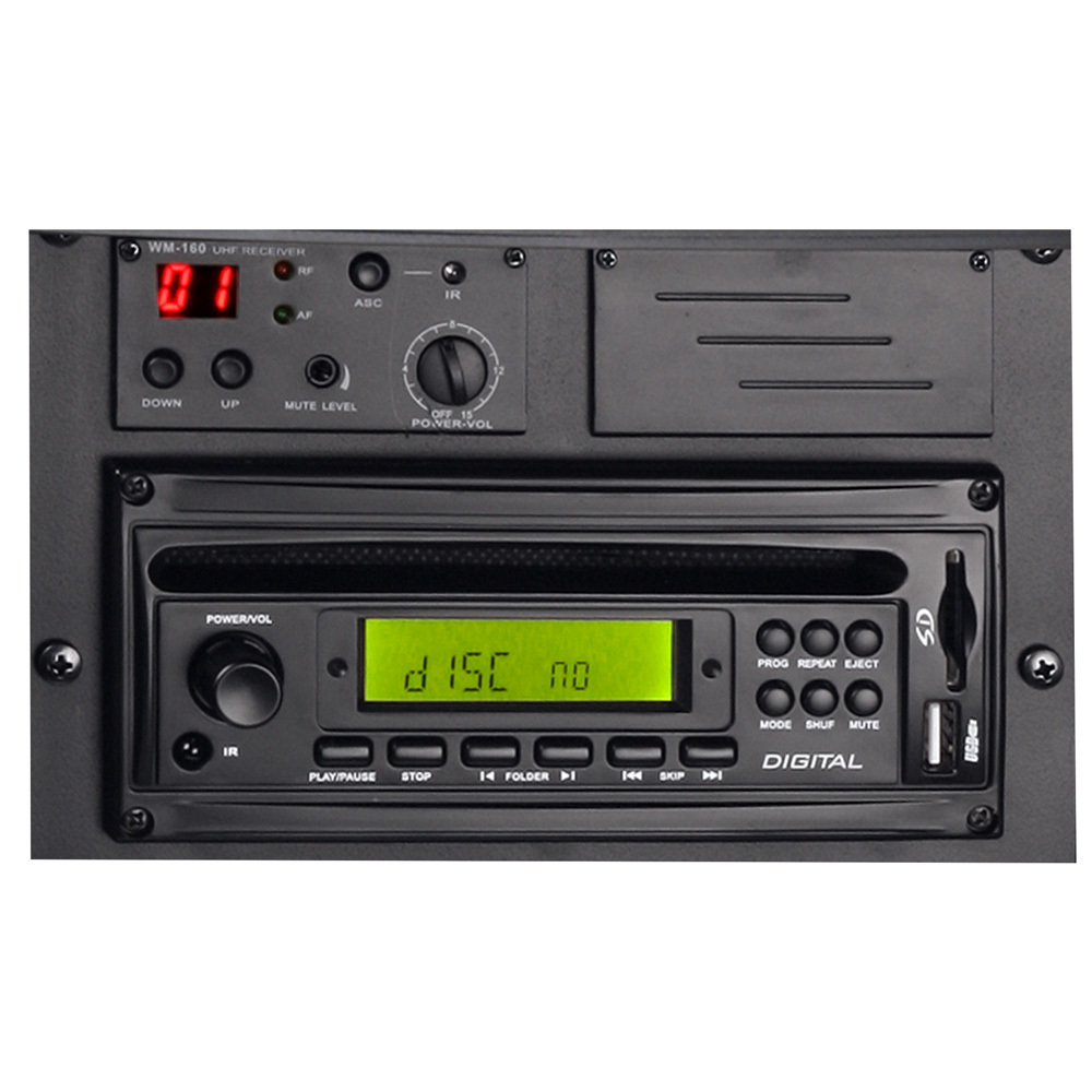 LD | Roadman | 320 W Aktivbox mit MP3 & CD, inkl. Funkmikro & Akku